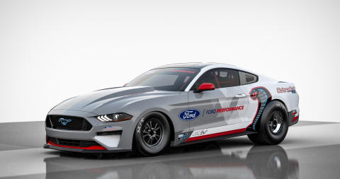 Ford Performance představuje Mustang Cobra Jet 1400, prototyp prvního elektricky poháněného továrního dragsteru značky Ford
