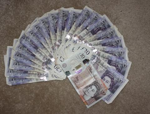 Cash seized in Coventry