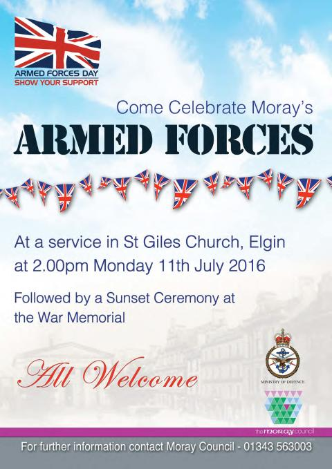 Elgin service to honour armed forces