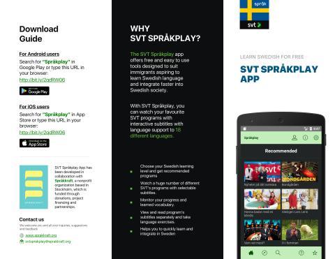 SVT Språkplay App User Guide