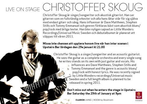 Christoffer Skoug - live på Clarion Hotel Stockholm