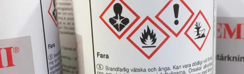 Satsning på kontroll av kemiska produkter