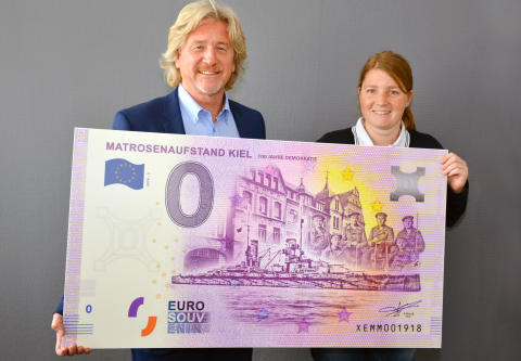 Neuer Kieler Null €-Geldschein: 100 Jahre Demokratie