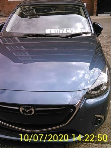 Mazda on 10 July - front view