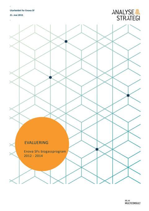 Evaluering av Enova SFs biogassprogram 2012 - 2014