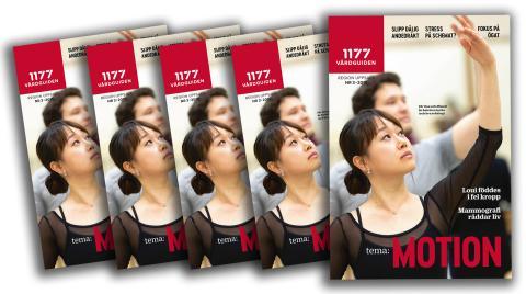 Tema motion i nya tidningen 1177 Vårdguiden