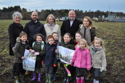 Designs of new Linkwood Primary school released as pupils visit site.