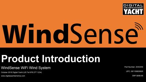 WindSense Dealer & Press Introduction Pack