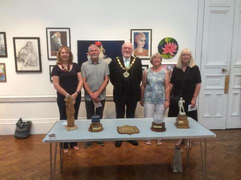 Mayor opens Bury Art Society's annual exhibition