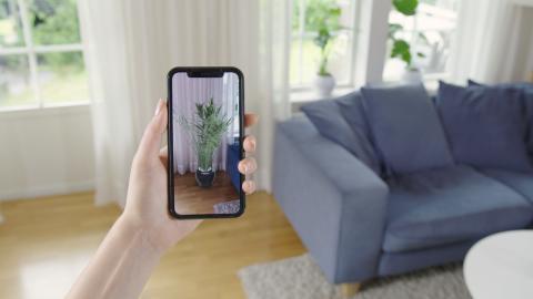 Inred ditt hem med växter direkt i mobilen med hjälp av Plantagens nya AR-lösning
