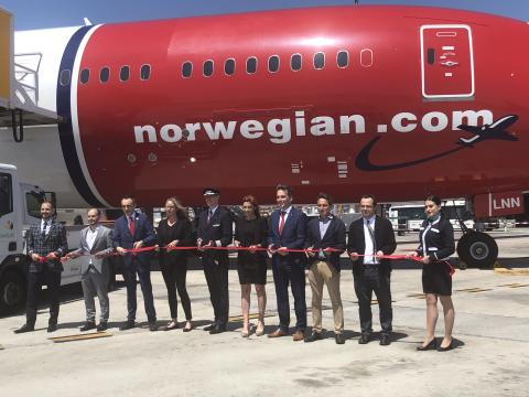 Norwegian vuelo  inaugural Barcelona- Chicago