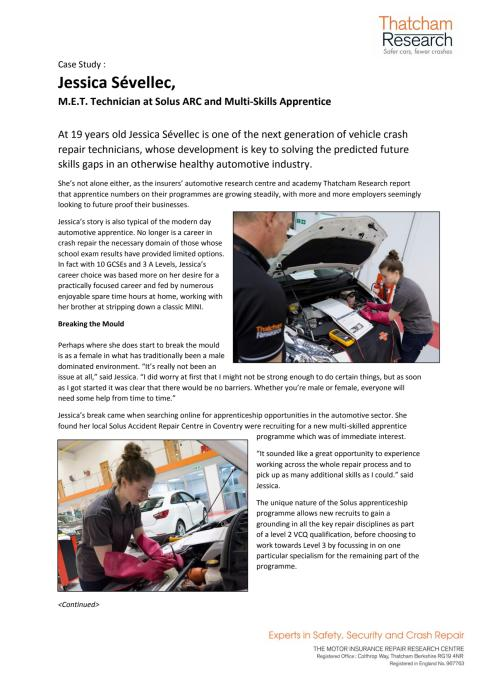 Apprentice Case Study - Jessica Sevellec