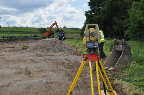 Heavy machinery on site at Elgin's Edgar Road extension