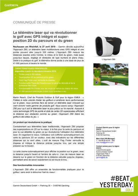 Le télémètre laser qui va révolutionner le golf avec GPS intégré et super-position 2D du parcours et du green