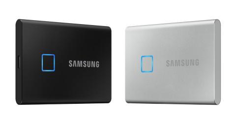 Samsung lanserer Portable SSD T7 Touch – den nye standarden innen hastighet og sikkerhet for eksterne lagringsenheter