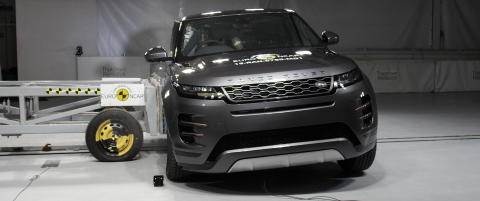 Range Rover Evoque Side Crash Test April 2019