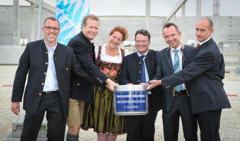 Paulaner feiert Grundsteinlegung für neue Brauerei