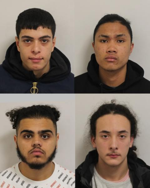 Four men jailed following series of robberies