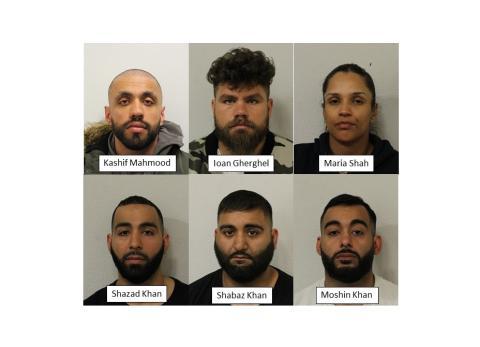 Six defendants sentenced