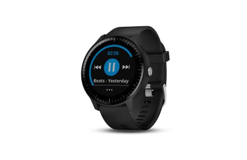 vivoactive 3 Music schwarz Musikfunktion links