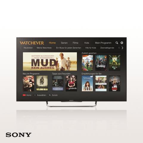WATCHEVER ab sofort auf TV-Geräten von Sony verfügbar