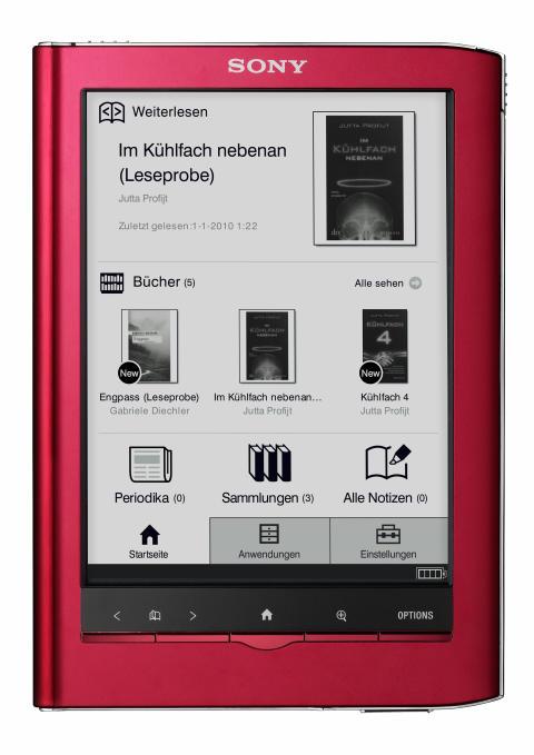 Reader Touch Edition PRS-650 von Sony rot