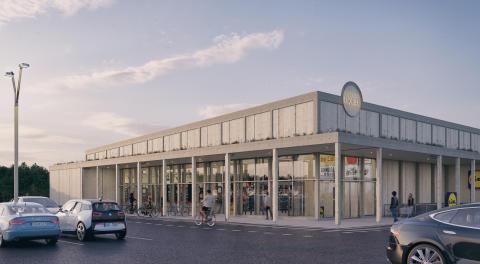 Lidl i Visby av LINK arkitektur