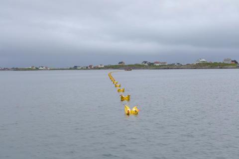 Sjøkabelen inn mot Røst