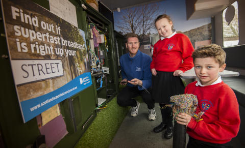 Edenside Primary School pupils get a lesson with fibre broadband