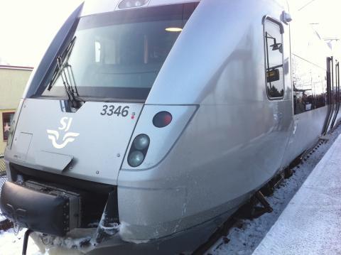 Premiärtur för nya snabbtåget SJ 3000