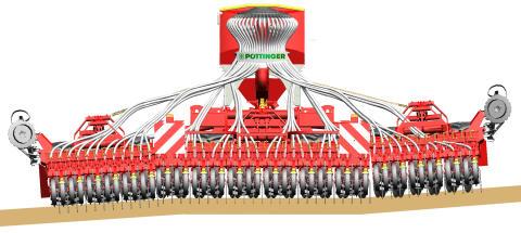 Pöttinger Terrasem 3-sektionsdesign