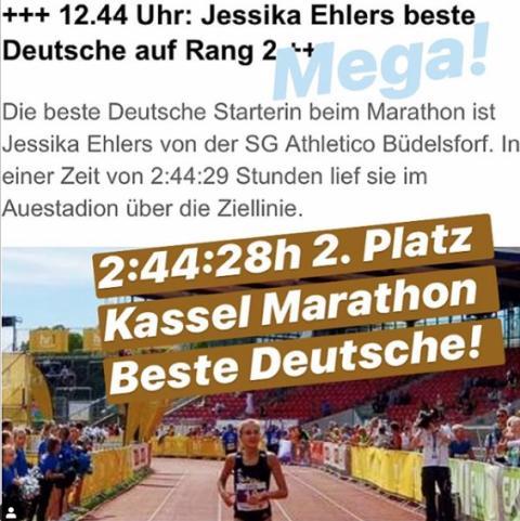 Jessika Ehlers vom GreenRock jK Elite Team wird Gesamtzweite beim Marathon in Kassel