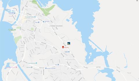 Karta till montagevisning av BoKlok Landeriet, Holmängs hage, Vänersborg.