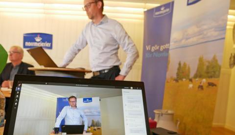 God uppslutning när Norrmejerier genomförde digital stämma 2 juni