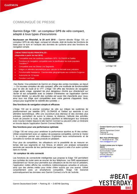 Garmin Edge 130 : un compteur GPS de vélo compact, adapté à tous types d'excursions