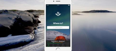 SJs prisbelönade app - nu även på engelska