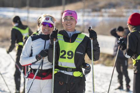 Anita Moen trener kinesiske langrennsutøvere
