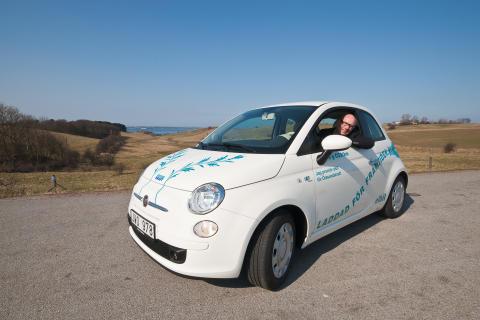 Öresundskrafts elbil - Fiat 500
