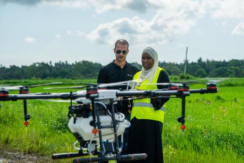 DJI Agras MG1-S Spray Drone training