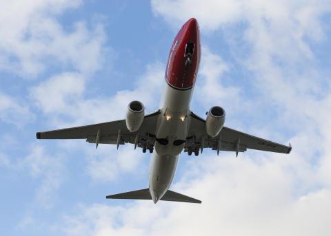 Nowegian's 737-800 aircraft. Foto: David Charles Peacock