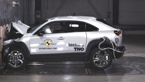Five-star safety from EV Mazda and hybrid Honda