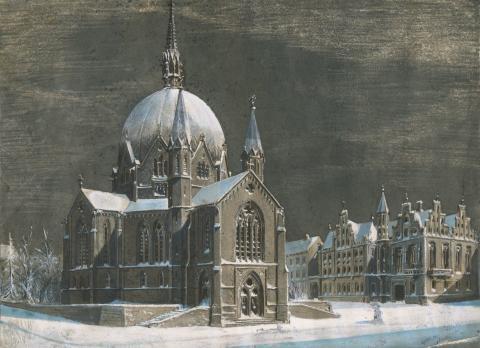 Lurer du på hvem som tegnet Trefoldighetskirken og mange andre kjente bygninger i Oslo?