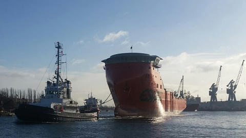 The new SOV for Statoil floated out in Poland.