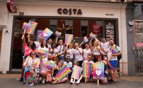 Costa Coffee Creates a Rainbow Over London with the Launch of Pride Cups
