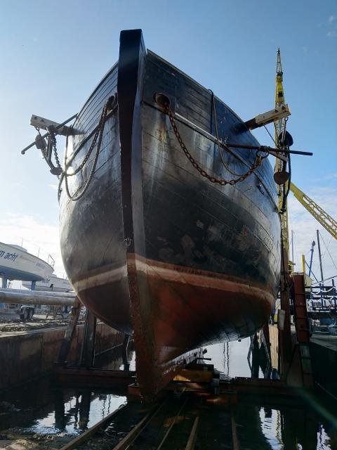 """Restauration des Traditionsschiff """"Zuversicht"""" in der Rathje Werft"""