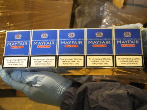 02 Cigarettes seized from a Glasgow warehouse