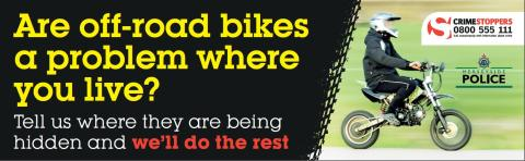 Merseyside Police remind the public of the dangers of the illegal use of off-road bikes ahead of Christmas