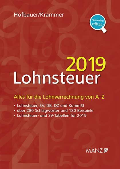 Neu bei MANZ: Handbuch Lohnsteuer 2019 von Hofbauer/Krammer