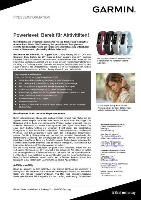 Powerlevel: Bereit für Aktivitäten!