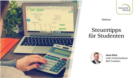 Webinar: Steuertipps für Studenten